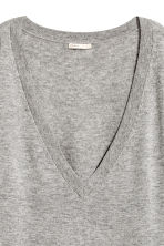 Fine-knit wool-blend jumper - Grey marl - Ladies | H&M CN 3